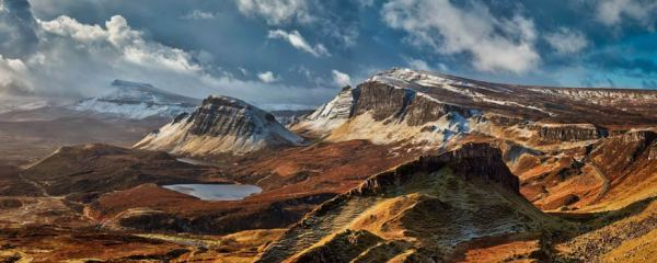 Snow on the Trotternish Mountains - UltraHD Print with Aluminium Backing