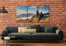 Old Man of Storr and Cuillins - UltraHD Print with Aluminium Backing on Wall