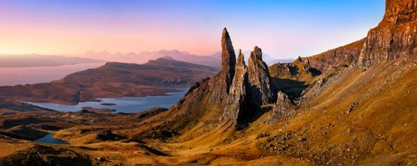 Old Man Storr Golden Light - UltraHD Print with Aluminium Backing