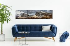 Snow on the Cleat and Dun Dubh - UltraHD Print with Aluminium Backing on Wall