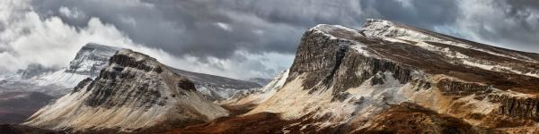Snow on the Cleat and Dun Dubh - UltraHD Print with Aluminium Backing