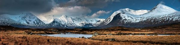 Rannoch Moor Winter Panorama - UltraHD Print with Aluminium Backing