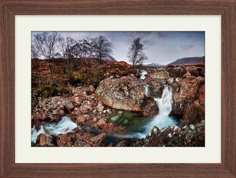 Coupall Falls Glencoe - Framed Print with Mount