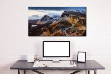 Sunshine and Snow on the Quiraing - Canvas Print on Wall