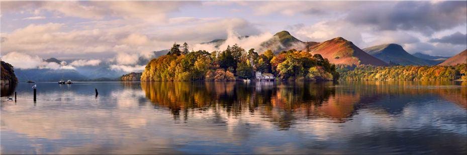 Rising Mists Derwent Water - Canvas Print