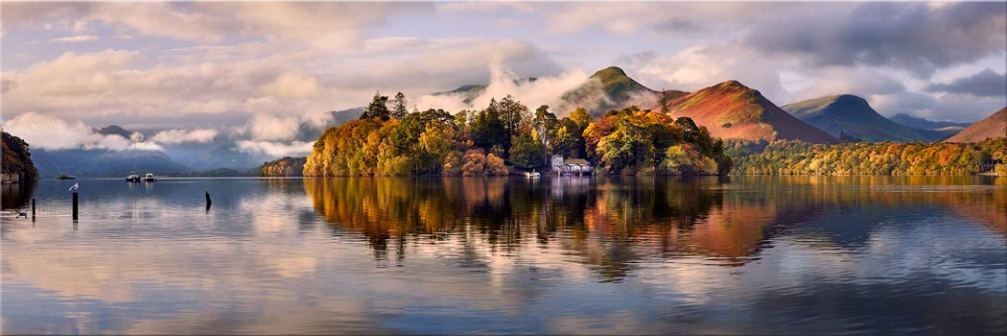 Rising Mists Derwent Water - Canvas Print