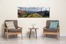 Pike Howe in Great Langdale - 3 Panel Wide Mid Canvas on Wall