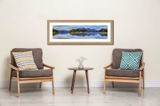 Derwent Water Tranquility - Framed Print with Mount on Wall