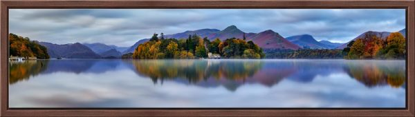 Derwent Water Tranquility - Walnut floater frame