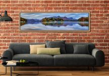 Derwent Water Tranquility - Oak floater frame with acrylic glazing on Wall