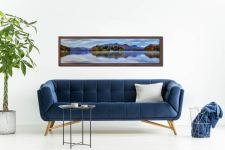 Derwent Water Tranquility - Walnut floater frame with acrylic glazing on Wall