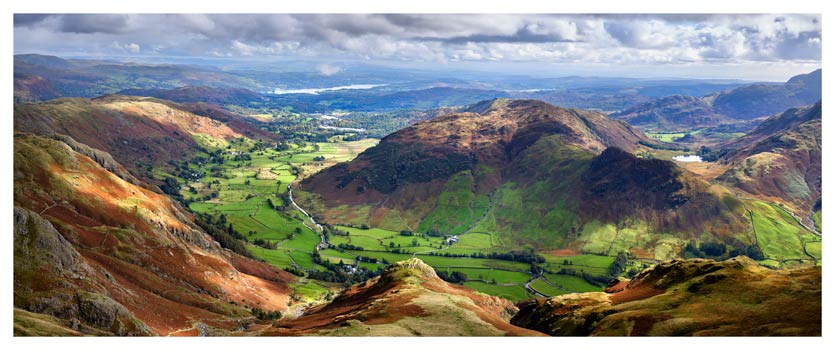 The Langdale Valleys - Lake District Print