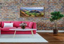 The Langdale Valleys - Lake District Natural Oak Frame on wall
