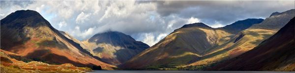 Sunlight on Wasdale Mountains - Canvas Print
