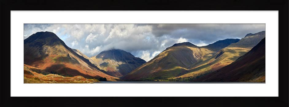 Sunlight on Wasdale Mountains - Framed Print with Mount