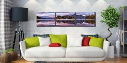 Derwent Isle Dawn Light - 3 Panel Canvas on Wall
