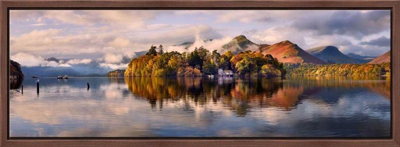 Rising Mists Derwent Water - Modern Print
