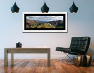 Pike Howe in Great Langdale - Framed Print with Mount on Wall