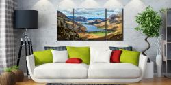 Hanging Rock Buttermere Valley - 3 Panel Wide Centre Canvas on Wall