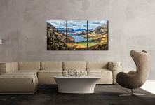 Hanging Rock Buttermere Valley - 3 Panel Canvas on Wall