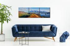Newlands Cat Bells Derwent Water - 3 Panel Canvas on Wall