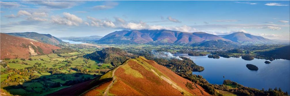 Newlands Cat Bells Derwent Water - Canvas Print