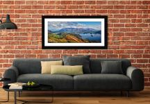 Catbells to Skiddaw - Framed Print with Mount on Wall