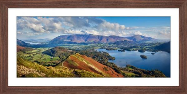 Catbells to Skiddaw - Framed Print with Mount