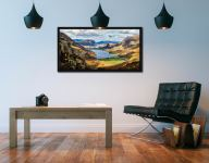 Hanging Rock Buttermere Valley - Black oak floater frame with acrylic glazing on Wall