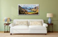 Hanging Rock Buttermere Valley - White Maple floater frame with acrylic glazing on Wall