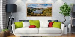 Early Autumn Grasmere - Oak floater frame with acrylic glazing on Wall