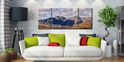 Sca Fell From Coniston Fell - 3 Panel Wide Mid Canvas on Wall