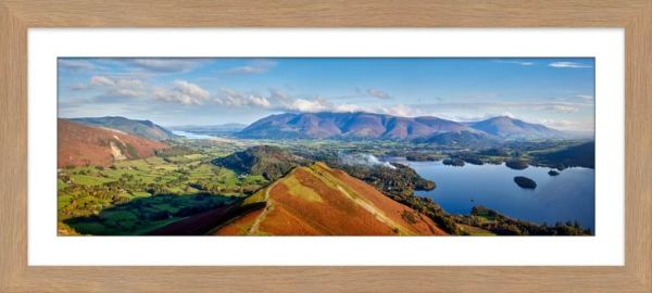 Newlands Cat Bells Derwent Water - Framed Print with Mount