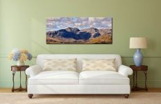 Sca Fell viewed from the path to Swirl How - Print Aluminium Backing With Acrylic Glazing on Wall