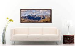 Sca Fell viewed from the path to Swirl How - Walnut floater frame with acrylic glazing on Wall