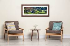 Chapel Stile in Langdale - Framed Print with Mount on Wall