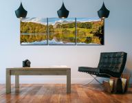 Loughrigg Tarn in Late Summer - 3 Panel Canvas on Wall