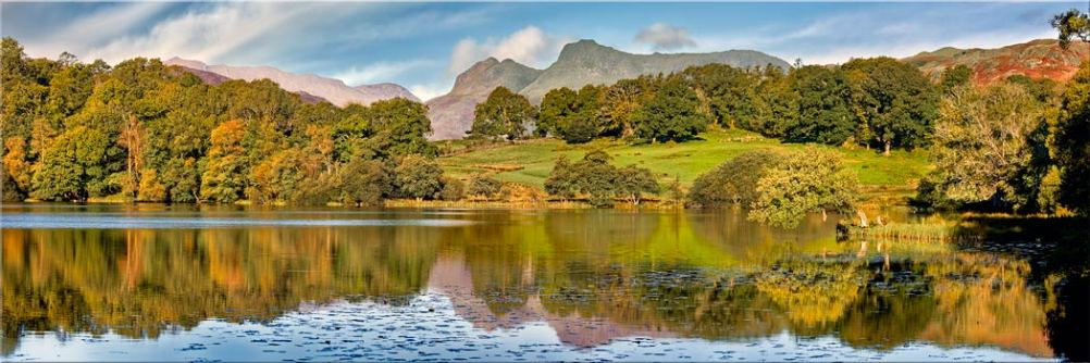 Loughrigg Tarn in Late Summer - Canvas Print
