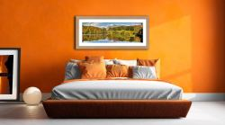 Loughrigg Tarn in Late Summer - Framed Print with Mount on Wall