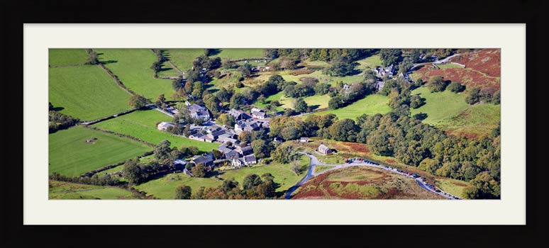 Buttermere Village - Framed Print with Mount