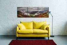 Great Langdale and Lingmoor Fell - 3 Panel Canvas on Wall