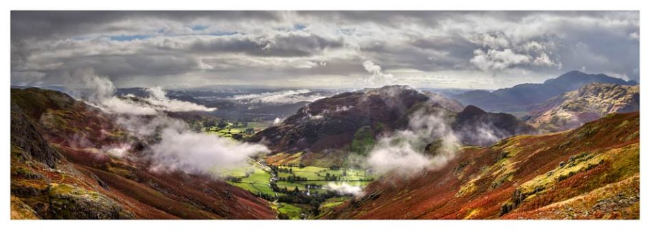 Great Langdale and Lingmoor Fell - Lake District Print