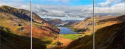 Sunshine on the Buttermere Valley - 3 Panel Wide Mid Canvas