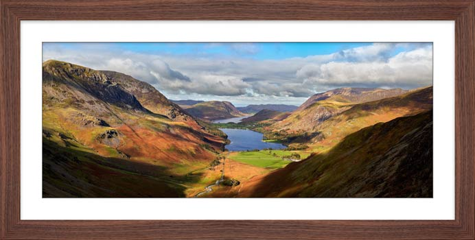 Sunshine on the Buttermere Valley - Framed Print