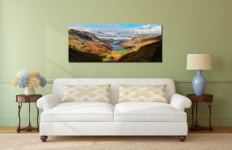 Sunshine on the Buttermere Valley - Print Aluminium Backing With Acrylic Glazing on Wall