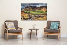 Great Landgale from Cumbrian Way - 3 Panel Canvas on Wall