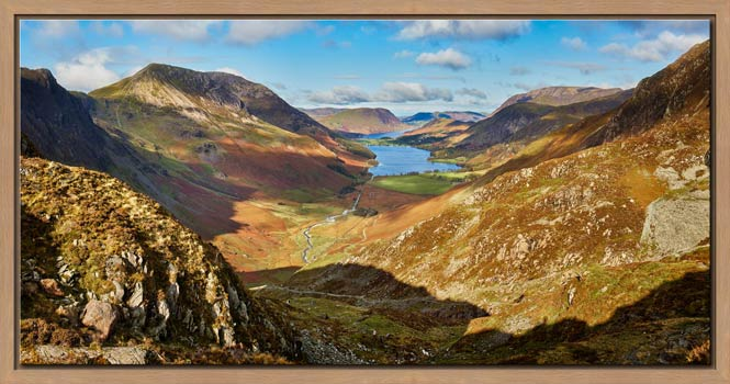The Buttermere Valley Autumn Sunshine - Modern Print