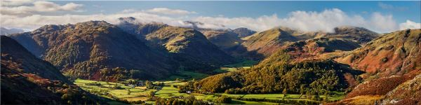 Beautiful Borrowdale Panorama - Canvas Print