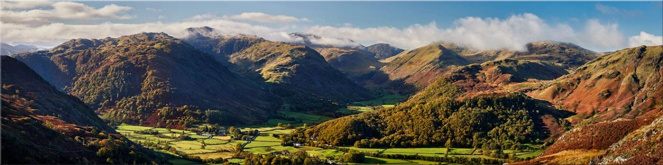 Beautiful Borrowdale Panorama - Canvas Prints
