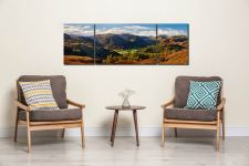 Beautiful Borrowdale - 3 Panel Wide Mid Canvas on Wall